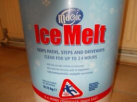 De-icer. Magic Ice melt for paths & driveways. 6 times more coverage than salt.