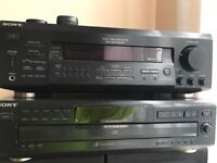 Sony FM stereo receiver, CD Player and Terminator Speakers