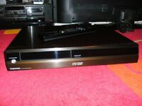Toshiba's flagship HD-XE1 HD-DVD player with 10 HD-DVDs.