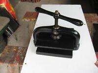 Vintage Cast Iron Book Press