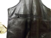 Ladies leather motorcycle dungarees