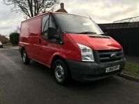 FORD TRANSIT 2007 SWB RED-VERY LOW MILLAGE 80K FROM NEW-12 MOTNHS MOT-2 KEYS-PERFECT RUNNER