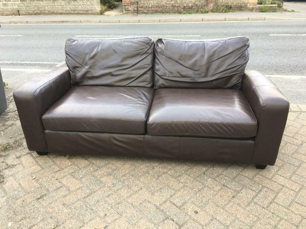 Next 3 Seater Leather Sofa 80 Delivered