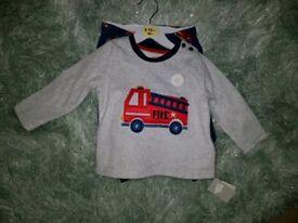 baby boy fleece pyjamas BNWT 9-12