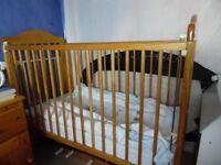 Cot & Mattress plus bedding