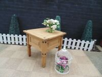 CORONA PINE COFFEE TABLE VERY SOLID AND HEAVY TABLE IN EXCELLENT CONDITION 58/58/54 cm £25