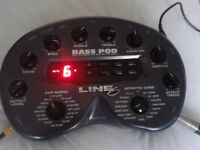LINE 6 POD BASS AMP MODELLER MULTI EFFECTS PEDAL WITH CASE & POWER SUPPLY