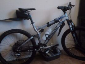 specialized full suspension MTB, with a brand new braking system fitted