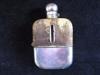 Silver Hip Flask with Snake Skin Cover