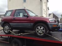 1994 TOYOTA RAV4 3DR SOLD AS SPARES OR FOR REPAIRS £300.