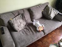 Dark Grey/Silver Couch   3 Seater