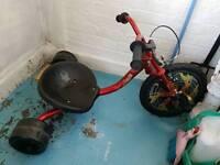 Boys big wheel trike