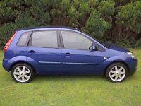 2008 '08 Ford Fiesta 1.25 Zetec Blue 46k Genuine miles Full Ford S/History New Mot 1 P/Owner