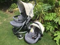 Hauck Malibu XL Travel System Pushchair/Buggy and Baby Car Seat