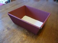 Flat packed cardboard gift boxes x 22, plus gift packing material