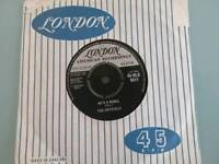 THE CRYSTALS HE'S A REBEL LONDON 9611 UK SINGLE EX+