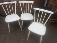 3 x Spindle Back Chairs