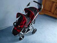 Double Buggy Dolls Pram - Push Chair - Stroller - Twin Dolls