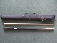 Classic by B.C.E. 2 Piece Snooker Cue. Used Once, As New.