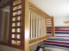 Mid Sleeper pine single bed. Good condition