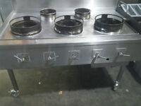 Chinese cooker 5 burner natural gas seller furbished .