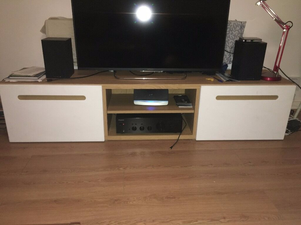 Pax Kleiderschrank Korpus Ikea ~ Besta ikea TV bench with drawers, oak effect, Lappviken white  in