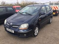54 NISSAN TINO LOW MILEAGE CAR IN VGCONDITION LOVELY FAMILY SALOON FULL SERVICE HISTORY ONE NICE CAR