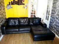 Leather corner Chaise Sofa