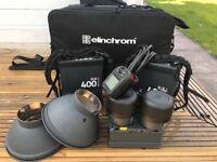 Elichrom ELB400 HS TWIN kit plus extras