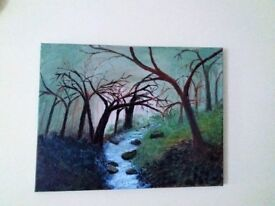 "New! Painting (Acrylic on canvas) created by D.Maidment size approx 18"" x 16"""