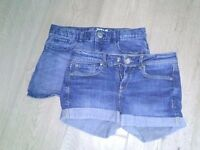 Girls' jean shorts - two pair - Gap Kids - size 14 - for 10-12 year old