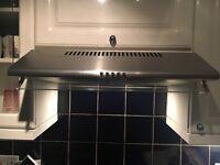 Silver extractor fan/ hood