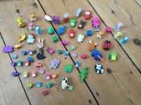 Collection of mini rubbers/erasers in all shapes and sizes - animals, etc.