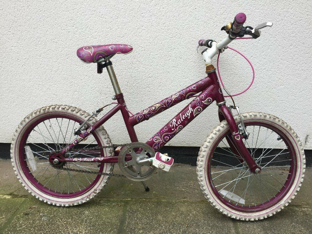 """Girl's Raleigh Bike, 18"""" wheel, approximately 5-8 years old"""