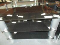 Black glass 3 tier TV stand RF6077 £25
