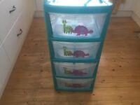 Drawer unit / 4 drawer tower unit plastic