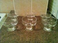 Ice cream sundae glasses