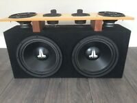 "2 X 12"" JL W3 Subs With 250/1 JL Amp, 2 Kenwood 6X9 + Focal Mids & Tweets"