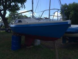Hunter Europer 19ft fin keel