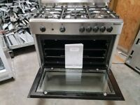 *+BAUMATIC STAINLESS STEEL GAS 5 BURNERS+OVEN/DELIVERY AVAILABLE*90 CMS WIDE ALL GAS COOKER/FULLY SE