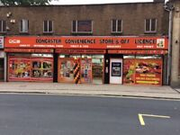 Large convenience store and off licence which sells worldwide food and drink.