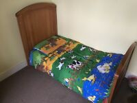 Mothercare cot bed and linen