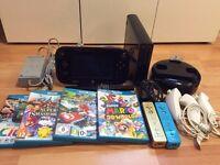 Nintendo Wii U Black 32GB Bundle including Games