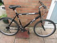 mens raleigh firefly mountain bike 20 inch frame with lock and lights £49.00