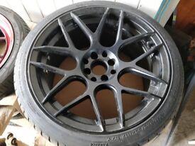 4 x Japan Racing Black JR18 17x8/9 ET35/20 With Ventus Evo V12 245/215 -Unused New- 4x100 4x114.3