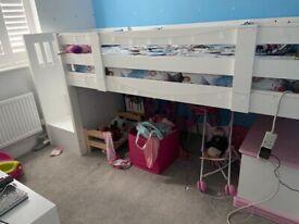 children's mid-sleeper bed