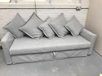 FREE DELIVERY IKEA HOLMSUND GREY 3 SEAT SOFA BED PERFECT CONDITION RRP £495