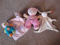 Four Soft Toys for Baby