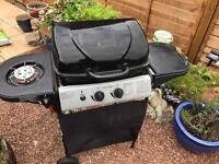 2 Burner gas BBQ with side burner