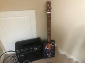 Cigar box Guitar and Prince 25 W amp